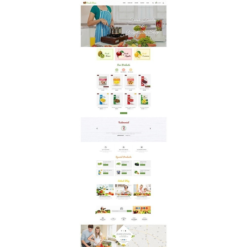 theme - Alimentos & Restaurantes - Fresh Vegetables Store - 2