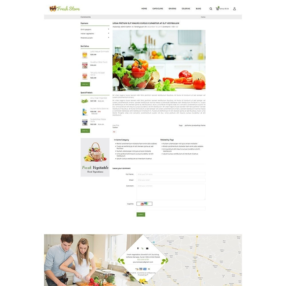 theme - Alimentos & Restaurantes - Fresh Vegetables Store - 9