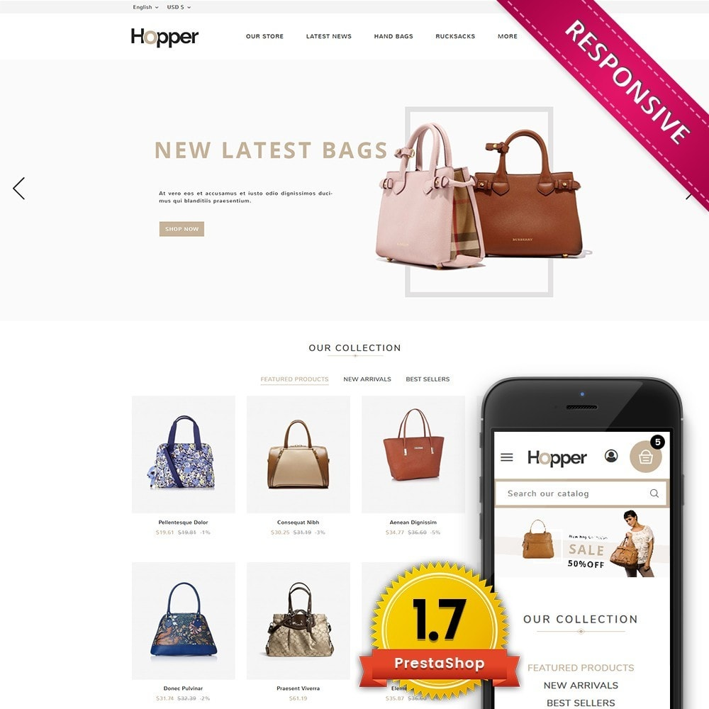 theme - Mode & Chaussures - Hopper Bag Store - 1