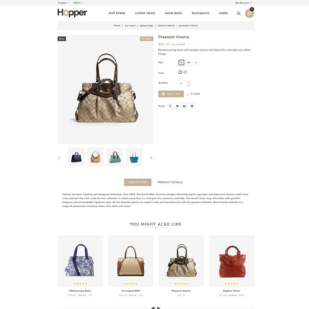 theme - Mode & Chaussures - Hopper Bag Store - 6