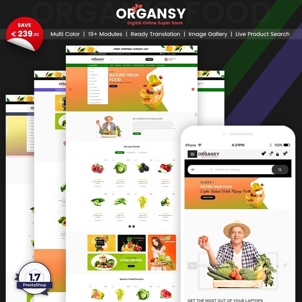 Organsy – Grocery/Food/Gourmet/Drinks Super Store