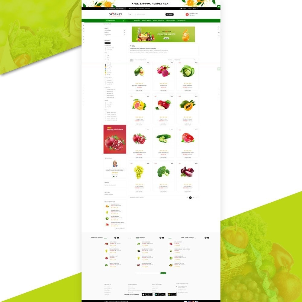 theme - Продовольствие и рестораны - Organsy – Grocery/Food/Gourmet/Drinks Super Store - 3