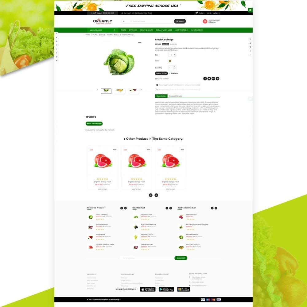 theme - Lebensmittel & Restaurants - Organsy – Grocery/Food/Gourmet/Drinks Super Store - 4