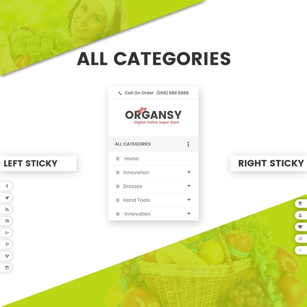 theme - Продовольствие и рестораны - Organsy – Grocery/Food/Gourmet/Drinks Super Store - 8