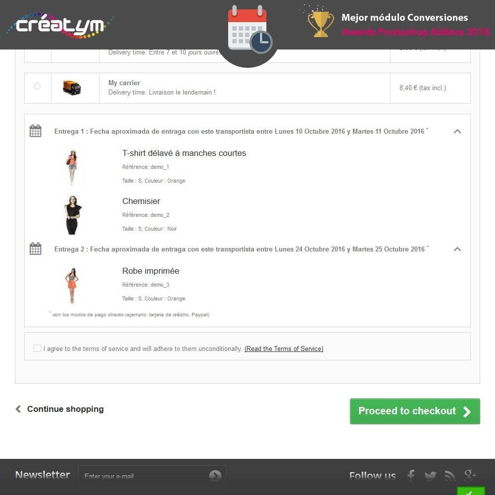 module - Fecha de entrega - Fecha de la entrega avanzada - 9