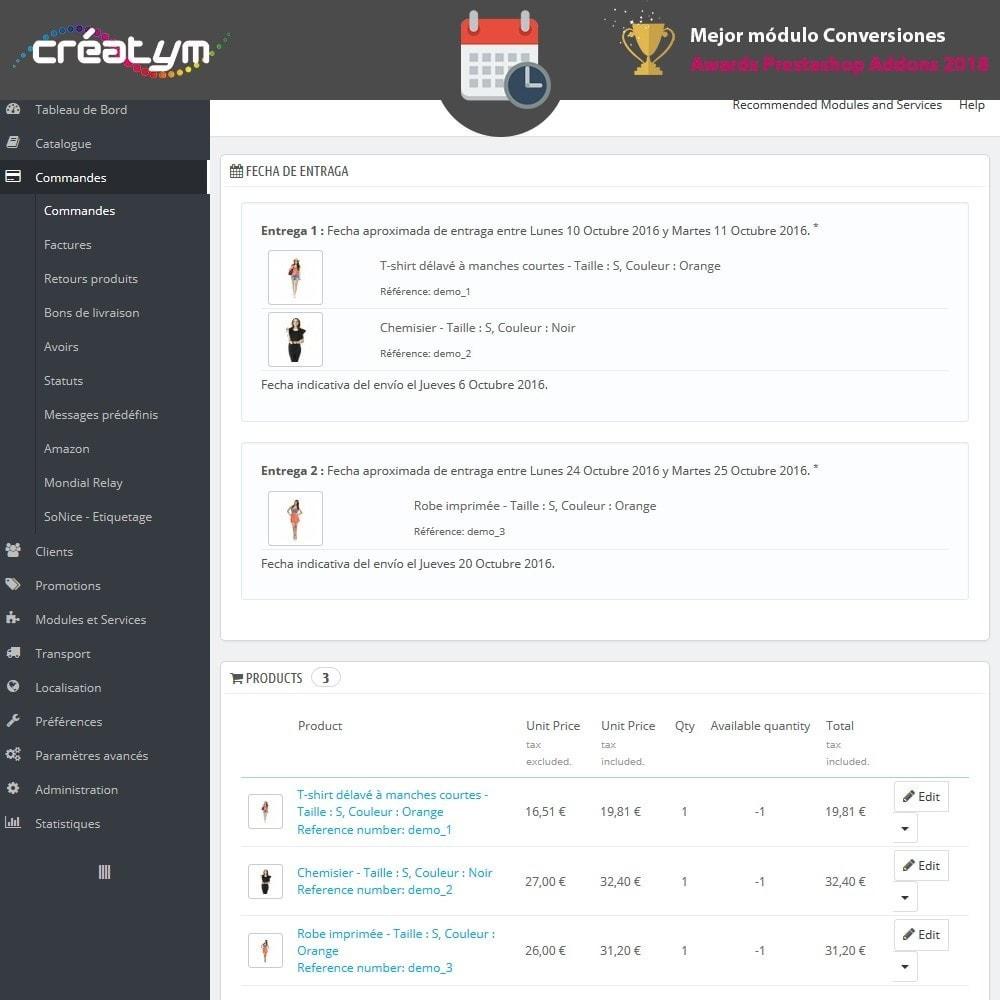 module - Fecha de entrega - Fecha de la entrega avanzada - 10