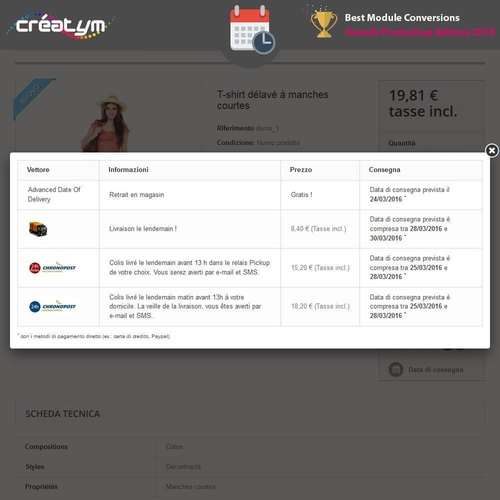 module - Data di Consegna - Avanzato Data di consegna - 2