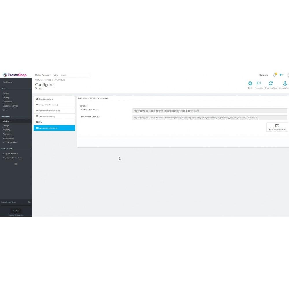 module - Import & Export de données - Siroop.ch Export - 6