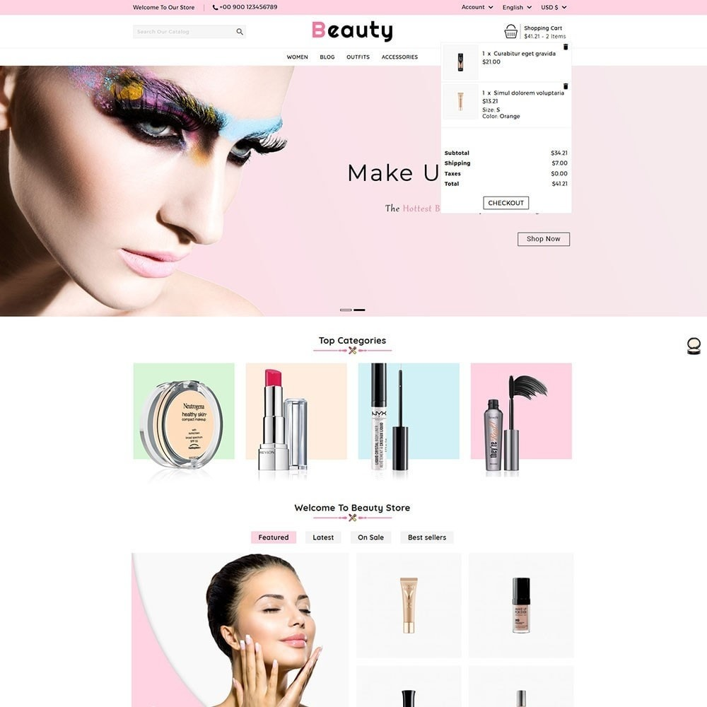 theme - Salud y Belleza - Beauty Cosmetic Shop - 3