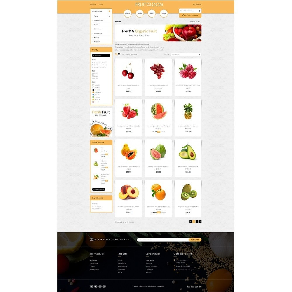 theme - Alimentation & Restauration - Fruits Store - 3
