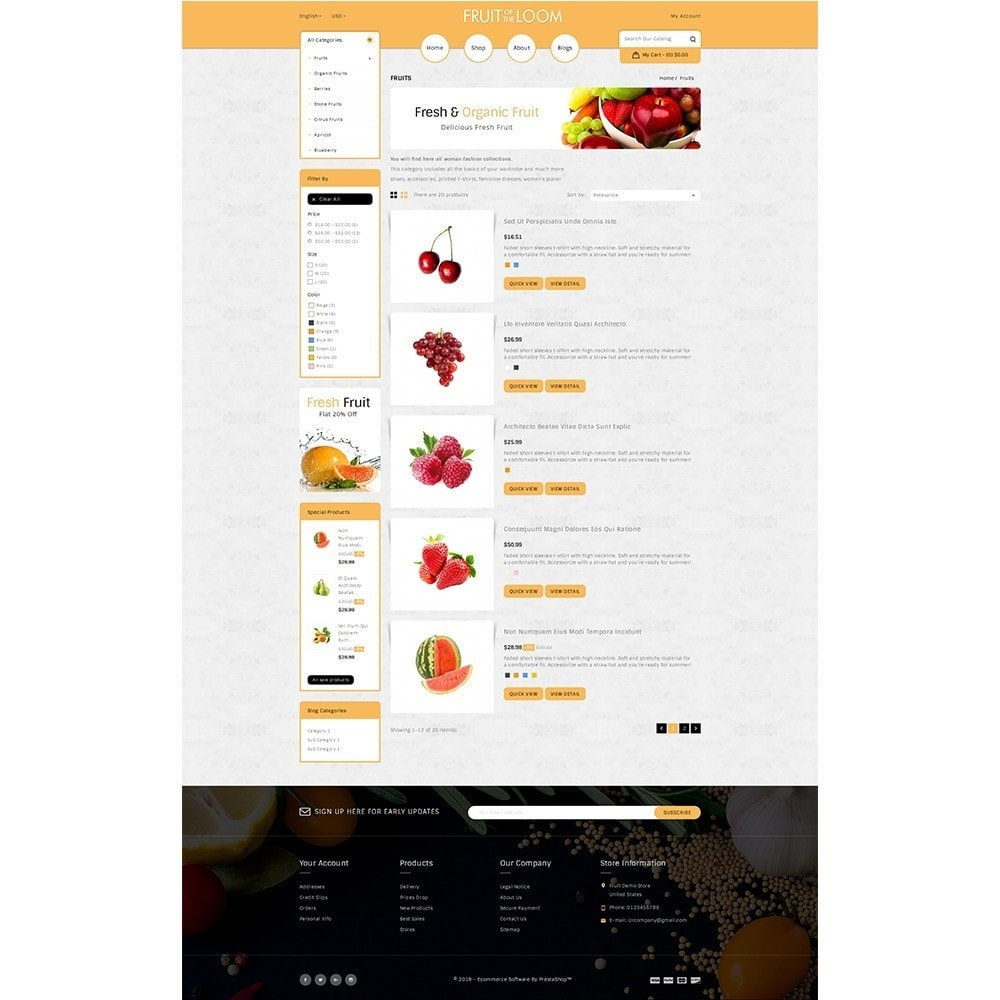 theme - Food & Restaurant - Fruits Store - 4
