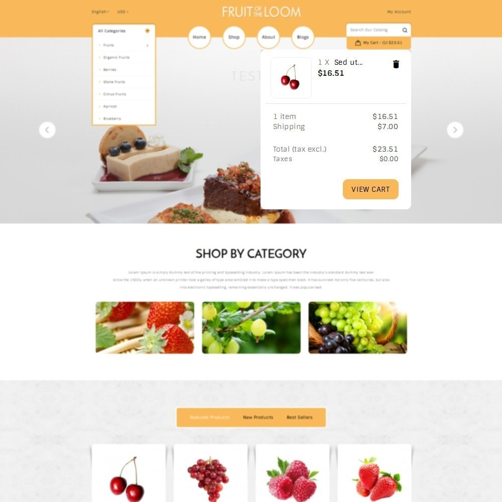 theme - Alimentation & Restauration - Fruits Store - 8