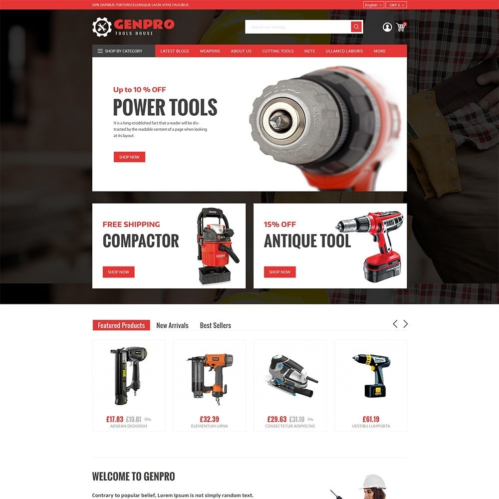 theme - Elettronica & High Tech - Genpro Tool House - 2