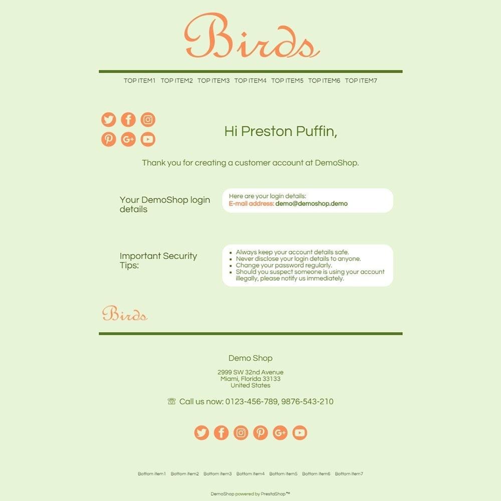 email - Template di e-mail PrestaShop - Birds - Email templates - 2