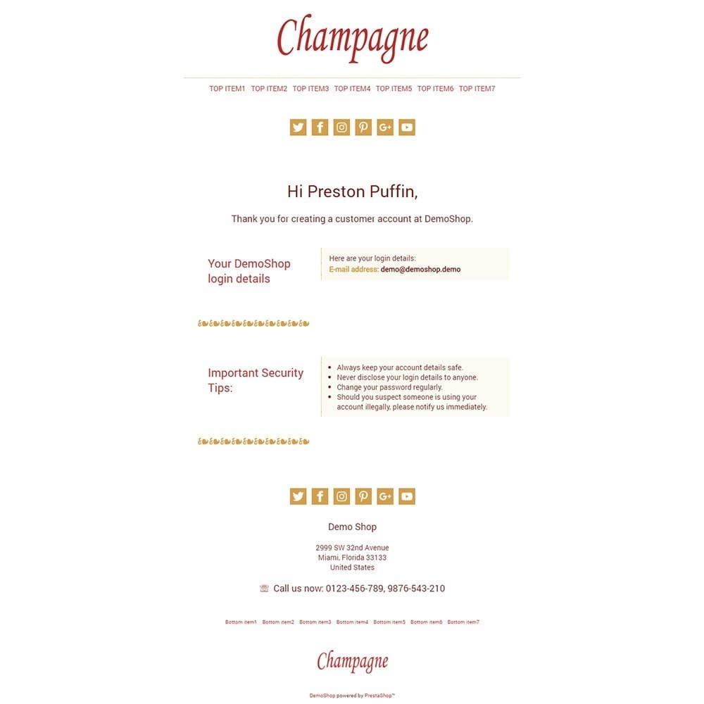 email - Template di e-mail PrestaShop - Champagne - Email templates - 2