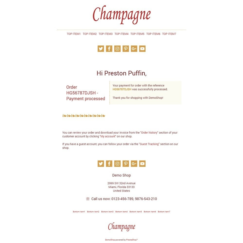 Champagne - Email templates