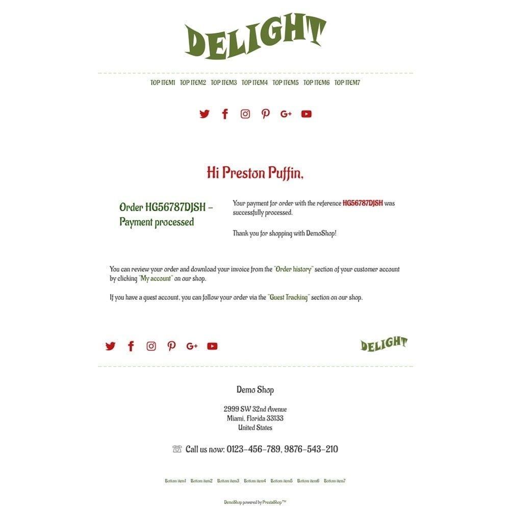 Delight - Email templates