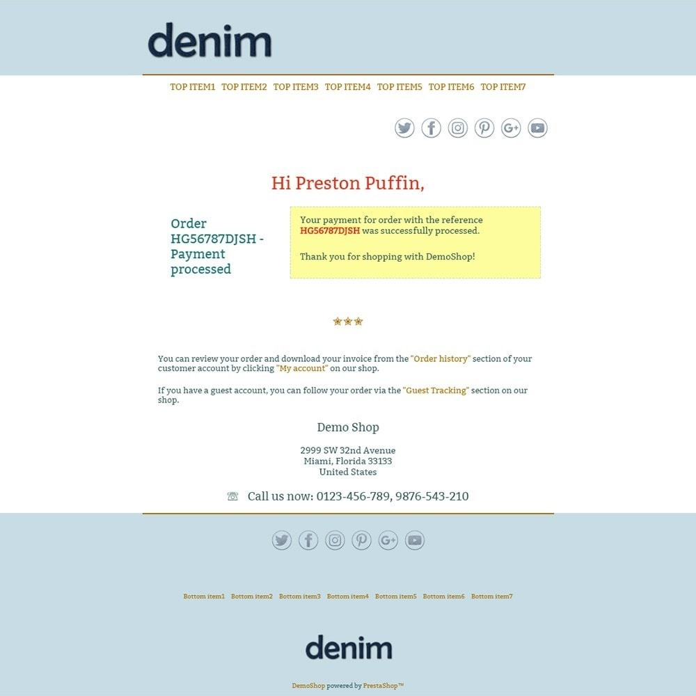 Denim - Email templates