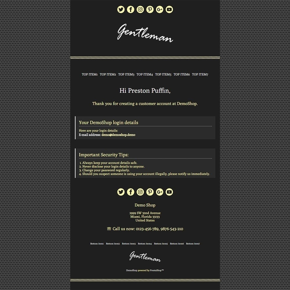 Gentleman - Email templates