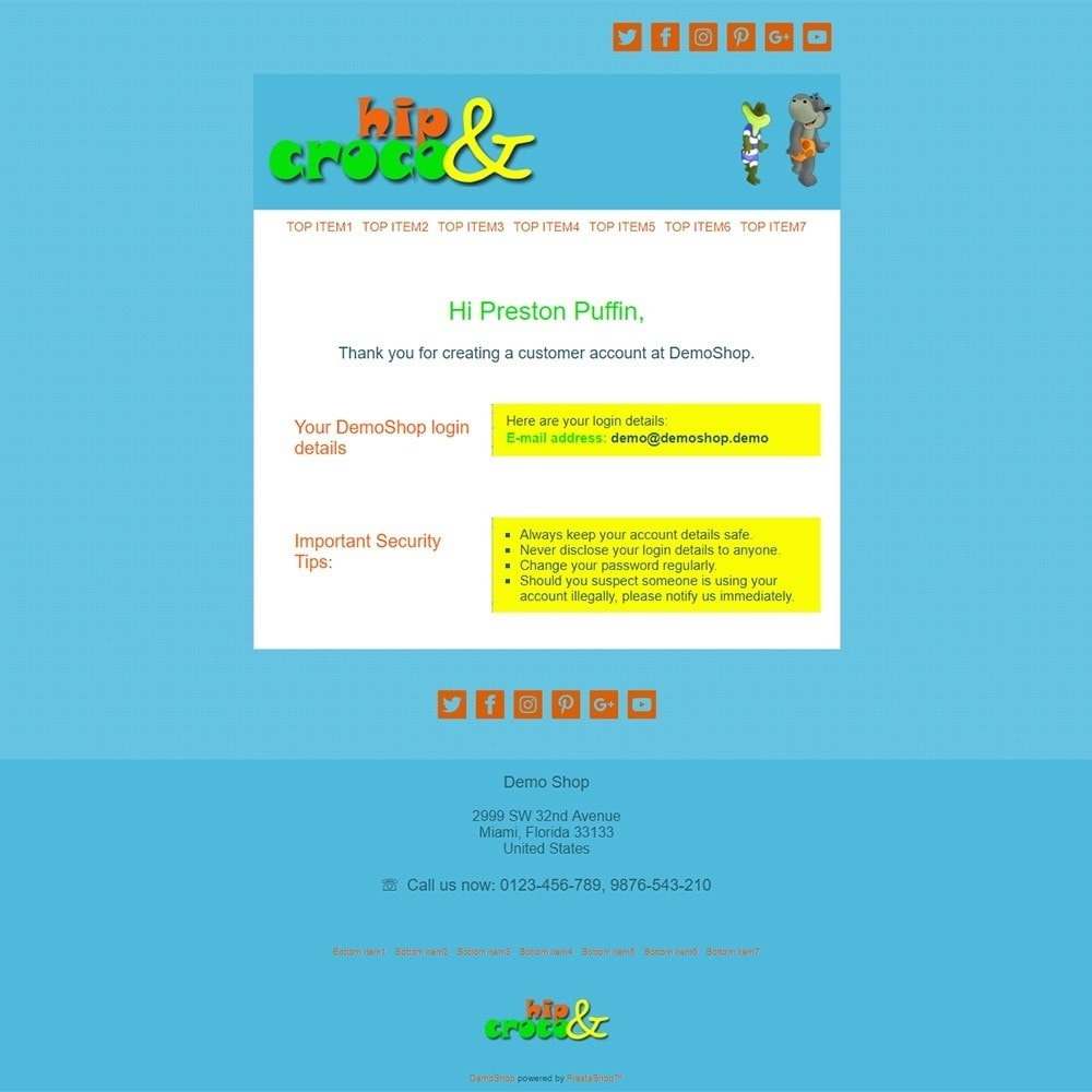 Hip And Croco - Email templates