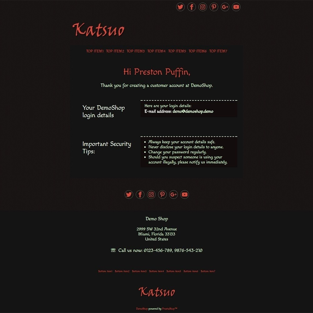 Katsuo - Email templates