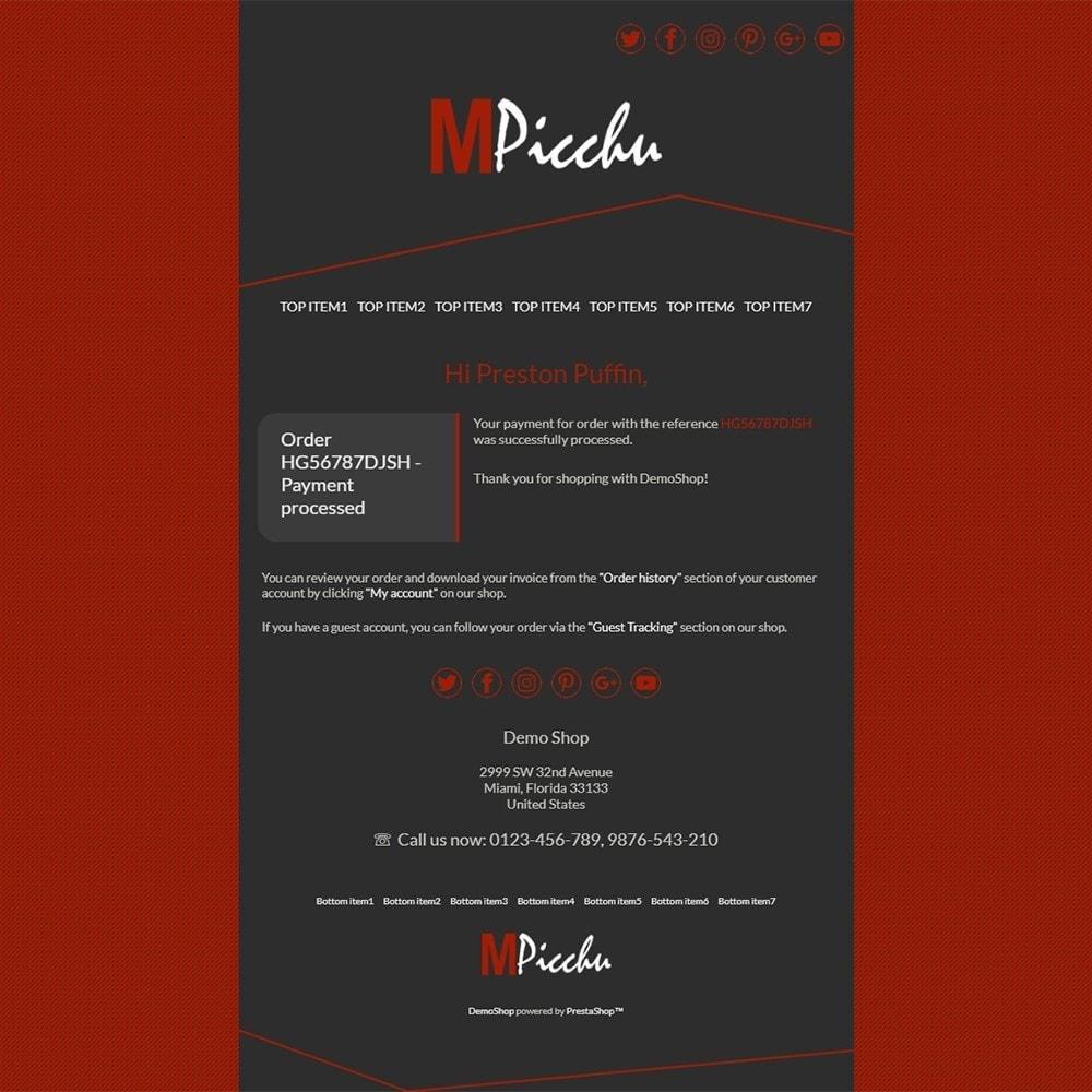 Machu Picchu - Email templates