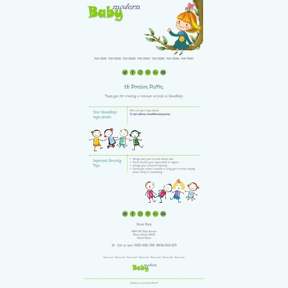 email - PrestaShop email templates - Modern Baby - Email templates - 2