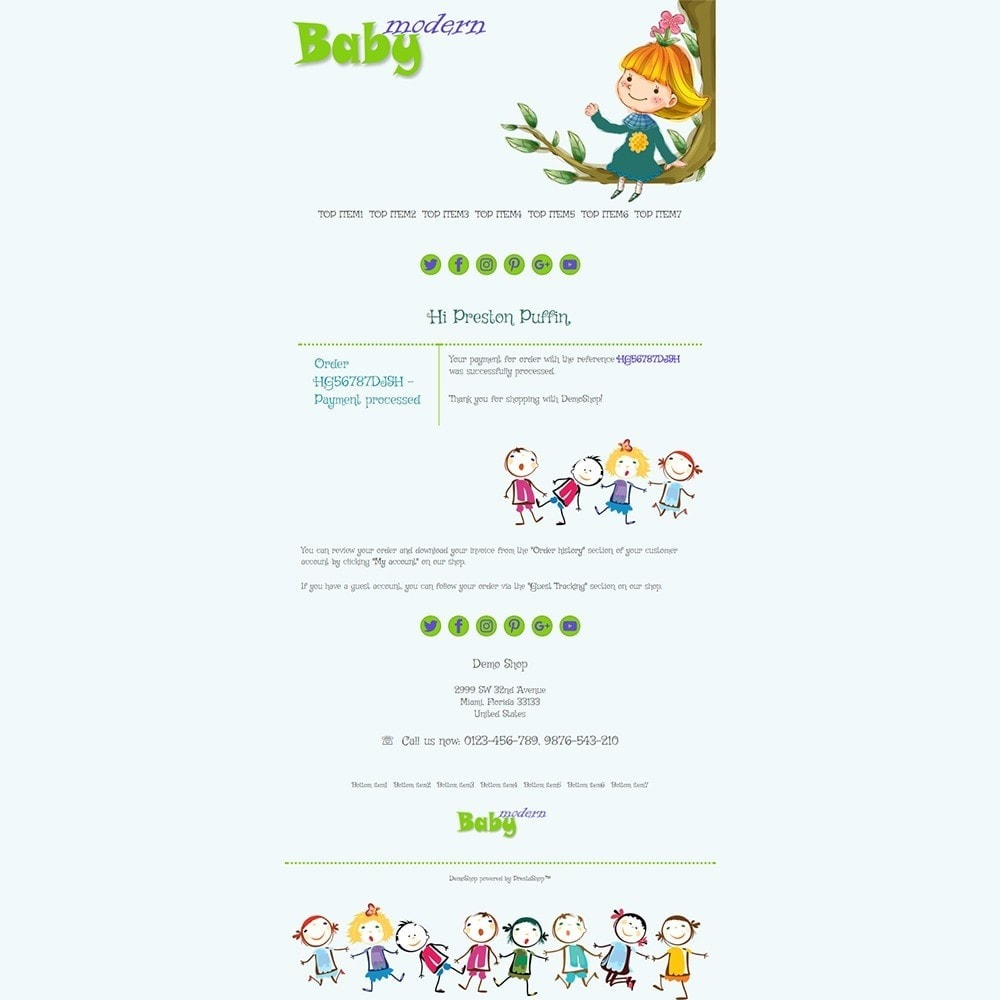 Modern Baby - Email templates
