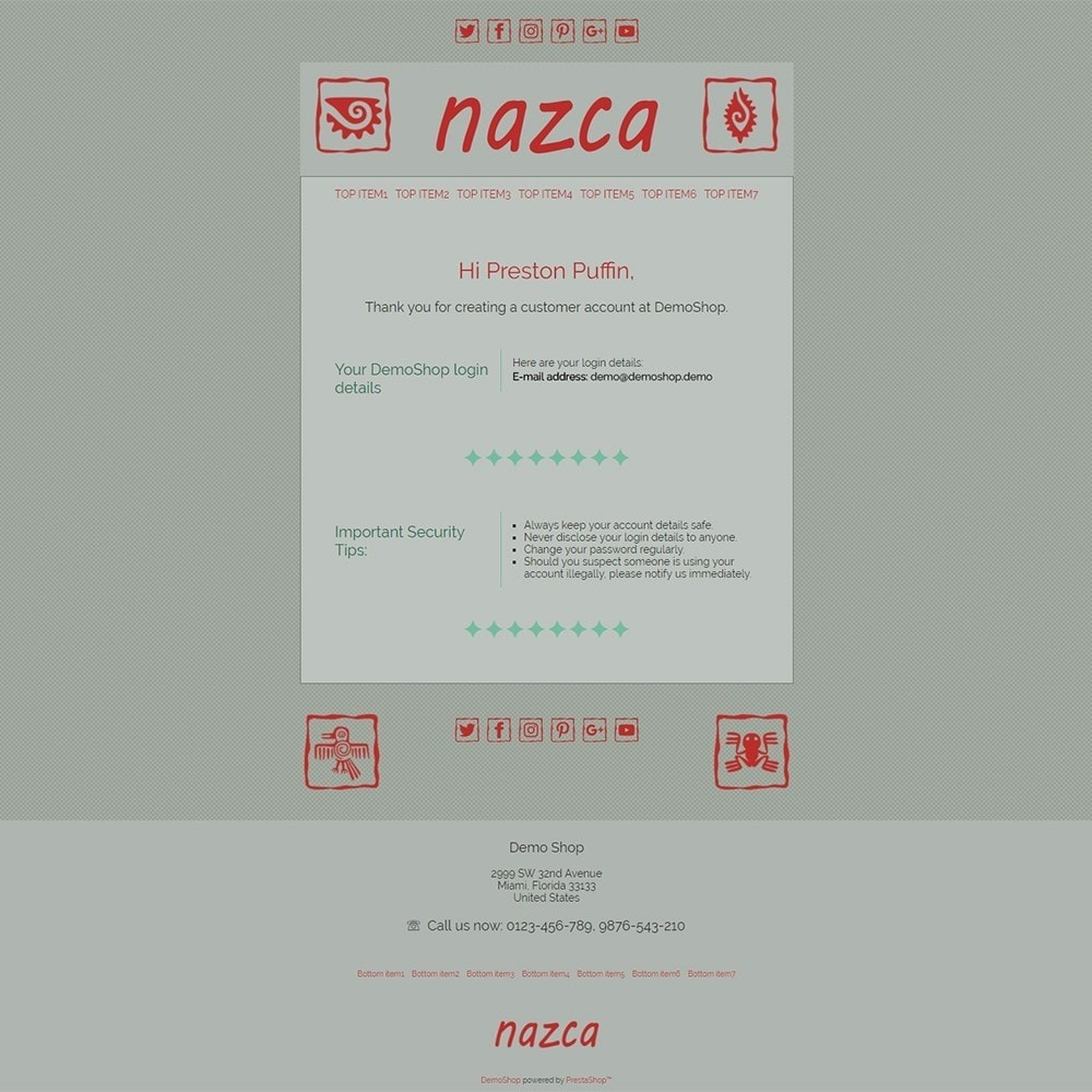 Nazca - Email templates