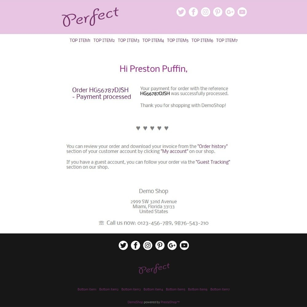 Perfect - Email templates