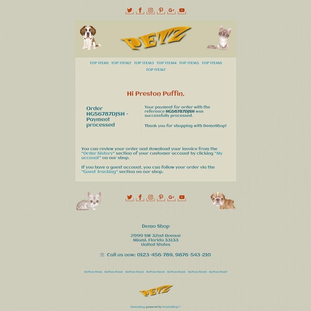 email - Template di e-mail PrestaShop - Petz - Email templates - 3