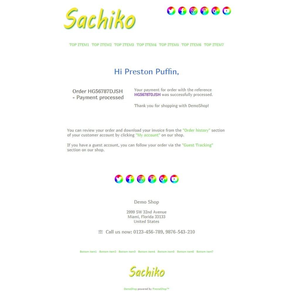 Sachiko - Email templates