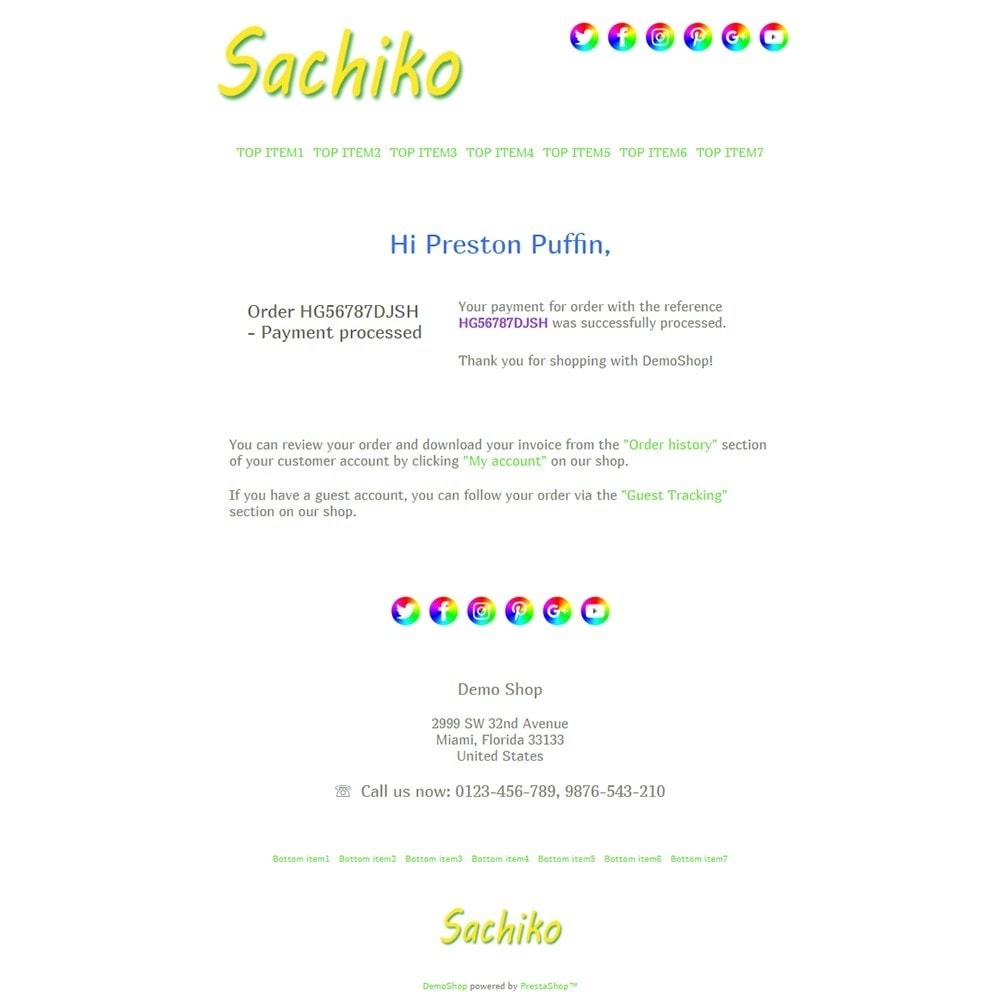 email - Email templates PrestaShop - Sachiko - Email templates - 3