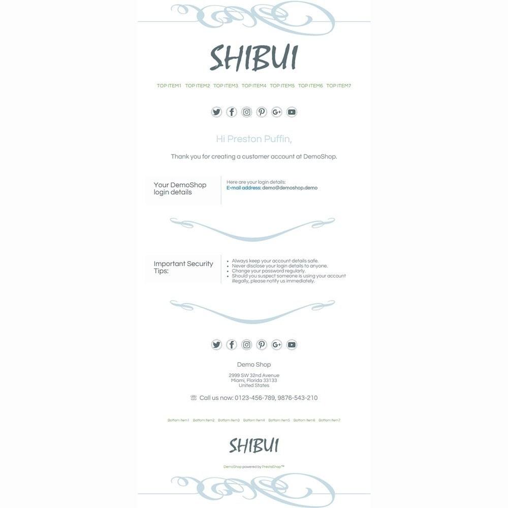email - Szablony e-mail PrestaShop - Shibui - Email templates - 2