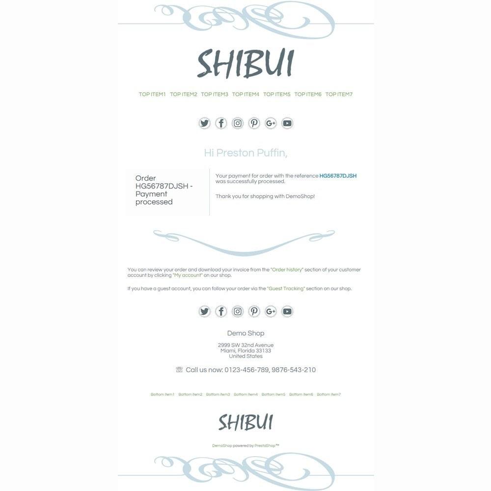 Shibui - Email templates