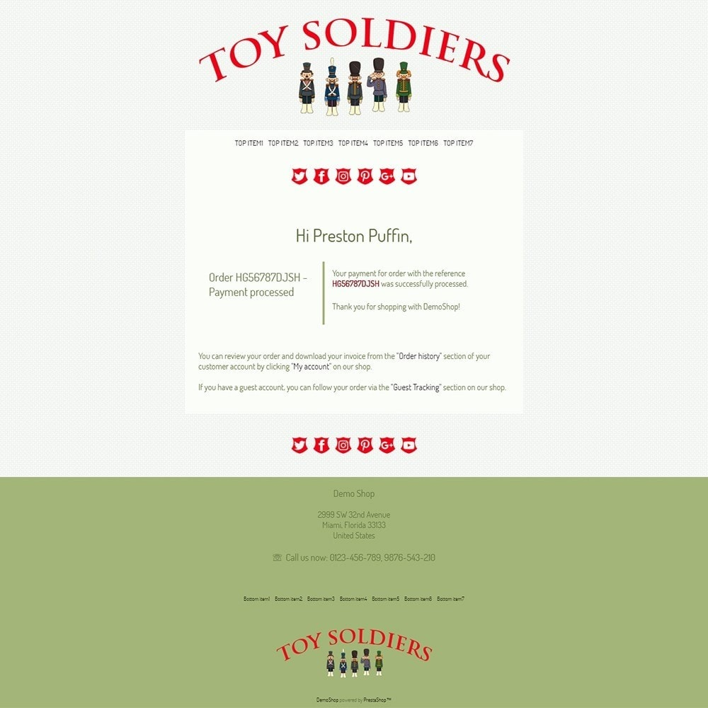 Toy Soldiers - Email templates