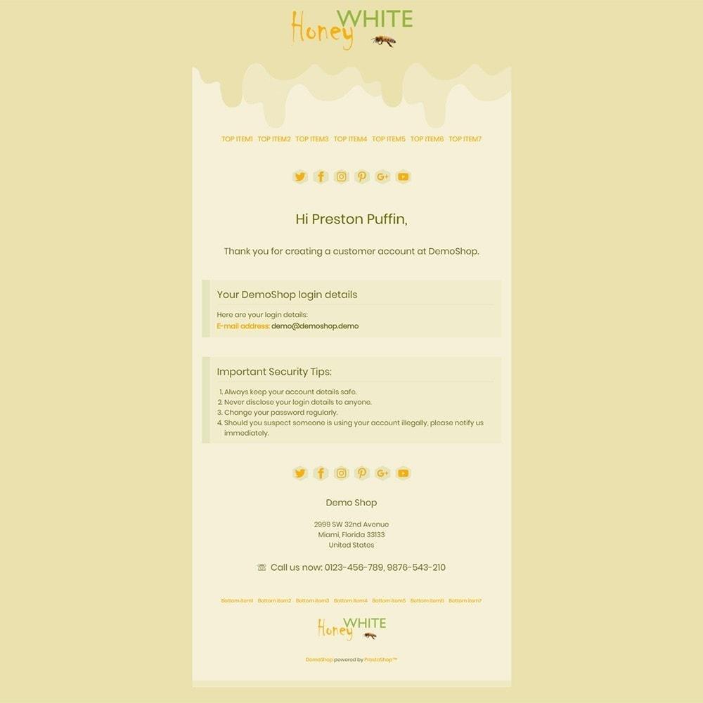 email - E-mailtemplates van PrestaShop - White Honey - Email templates - 2