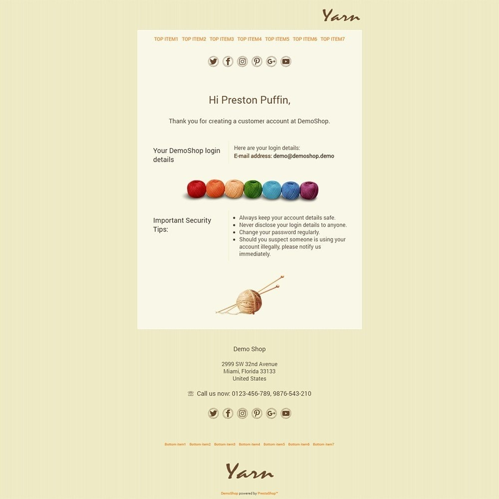 Yarn - Email templates