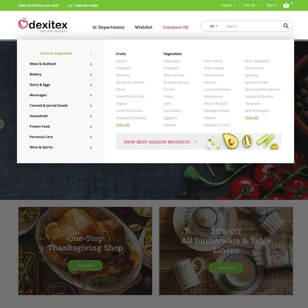Dexitex - Grocery Market