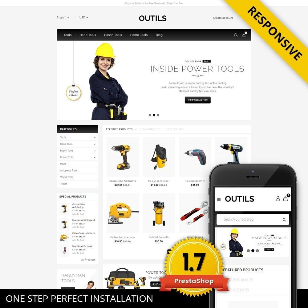 theme - Electrónica e High Tech - Outils - Tools Shop - 1
