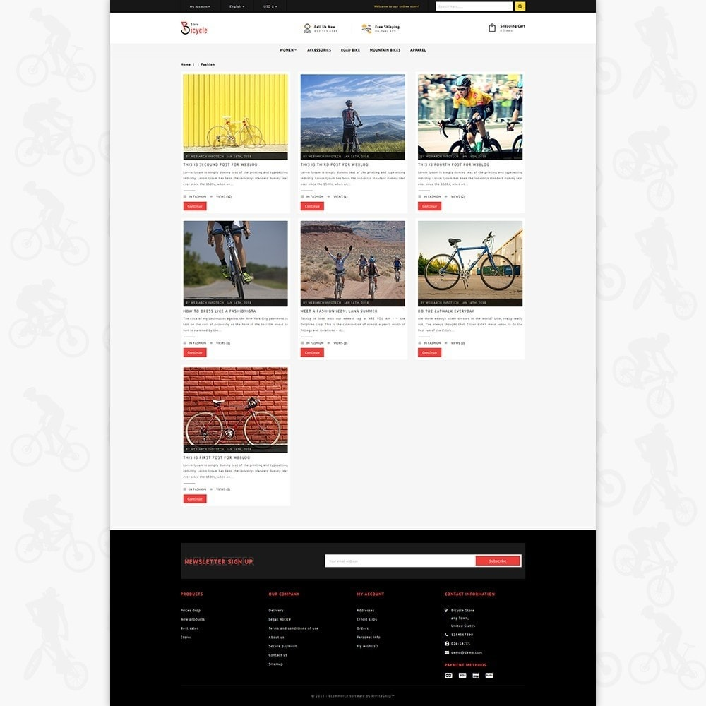 theme - Desporto, Actividades & Viagens - Bicycle Sports Store - 6