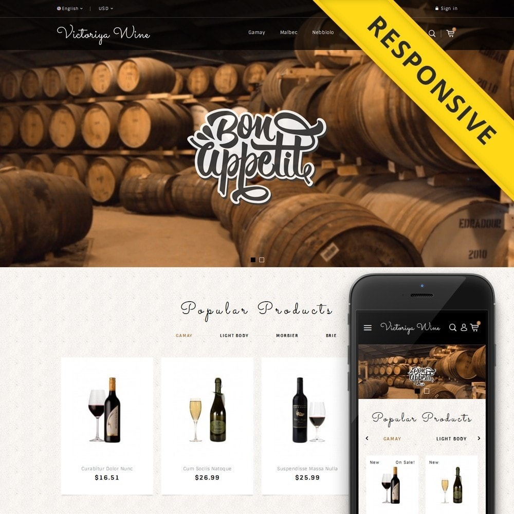 theme - Drink & Wine - Victoriya Wine Shop - 1