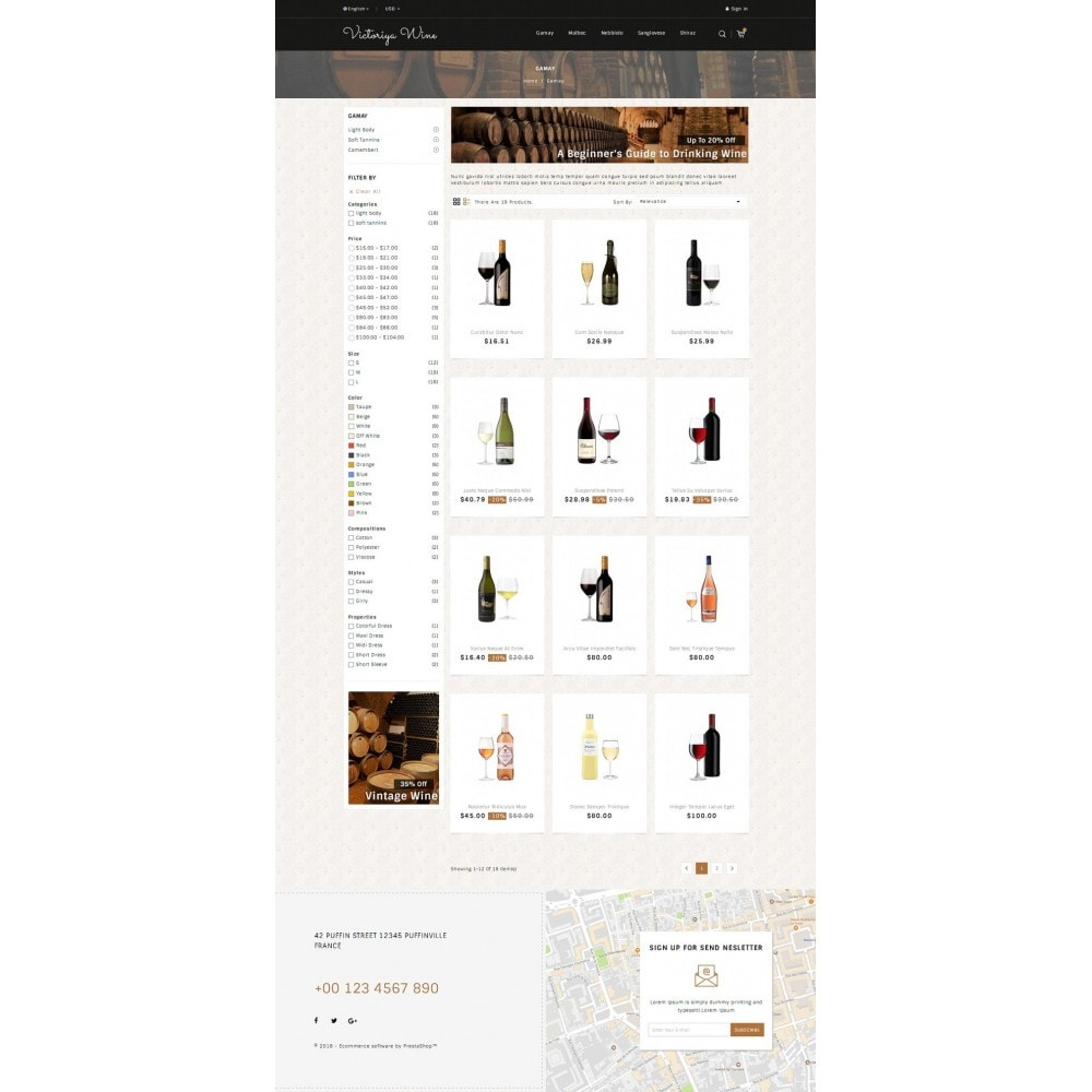 theme - Drink & Wine - Victoriya Wine Shop - 3