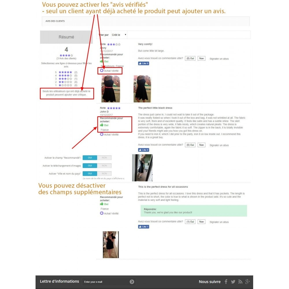 module - Avis clients - Commentaires avancés avec photos + Google rich snippets - 2