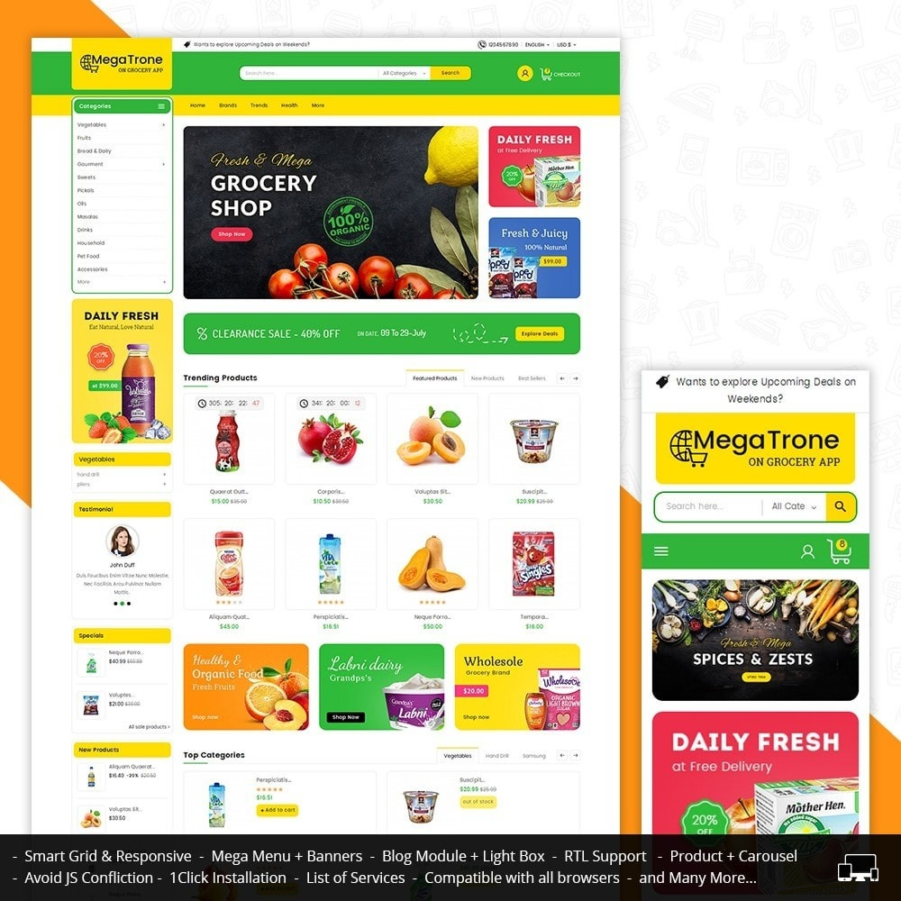 theme - Eten & Restaurant - Mega Trone Grocery - 1