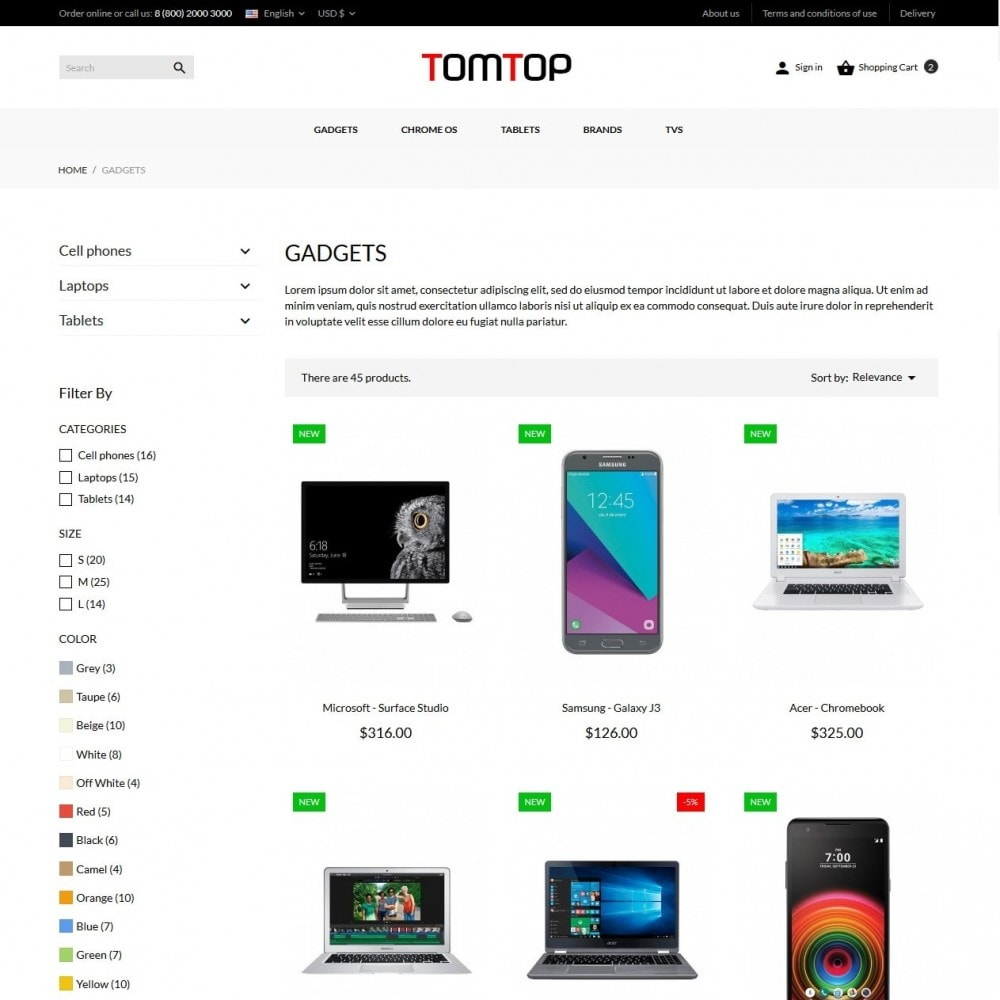 theme - Electronics & Computers - Tomtop - High-tech Shop - 5