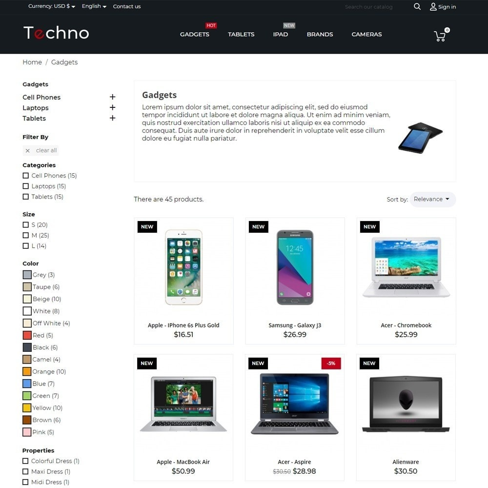 theme - Electronics & Computers - Techno - High-tech Shop - 5