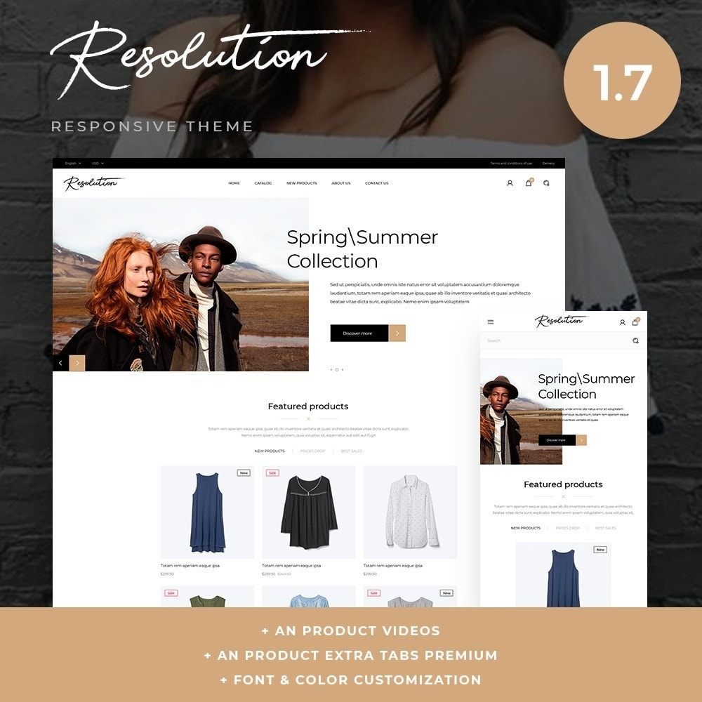 theme - Мода и обувь - Resolution Fashion Store - 1