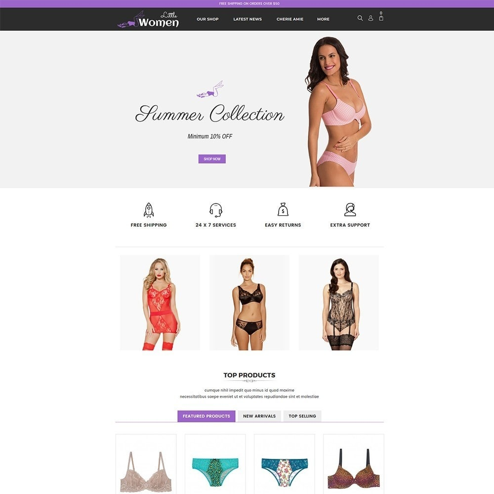 theme - Lingerie & Adultos - Little Women Lingerie Store - 2