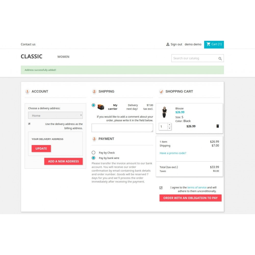 module - Процесс заказа - Responsive One Step Checkout / One Page Checkout - 12